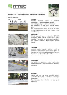 GRAVEL FIX - systém štěrkové stabilizace - instalace