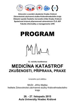 Program konference - Zdravotní a sociální akademie Hradec Králové