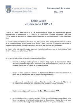 hors-zone TTIP». - Saint