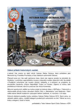 Ke stažení ve formátu  - Tatra Veteran Sport Club Ostrava v AČR