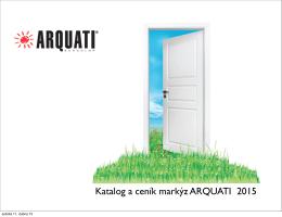 Katalog a ceník markýz ARQUATI 2015