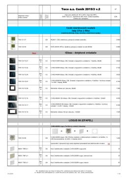 Ceník interiérových modulů CFox a RFox pro Tecomat Foxtrot 2015