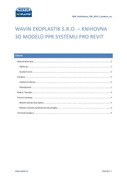 wavin ekoplastik sro – knihovna 3d modelů ppr