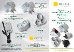 Drobný elektroinstalační materiál Drobný elektroinstalačný materiál