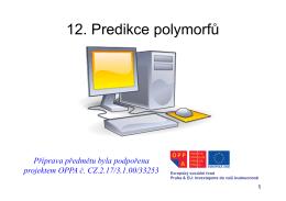 12. Predikce polymorfů