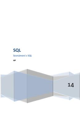 SQL práce