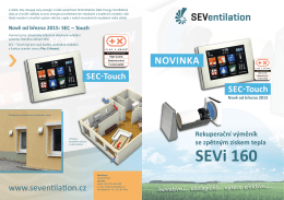 SEVi 160 NOVINKA Nově od března 2015 SEC-Touch