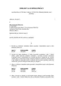Smlouva o spolupráci - Kamenné Žehrovice (2)