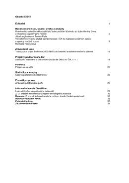 Obsah 5/2015 Editorial Recenzované stati, studie, úvahy a analýzy