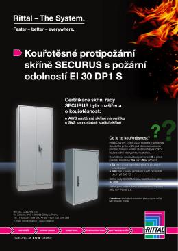Kouřotěsné protipožární skříně SECURUS s