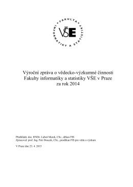 vz_2014_VEDA_FIS_NA - Fakulta informatiky a statistiky