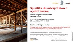 Specifika historických staveb a jejich sanace
