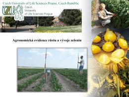 Agronomická evidence pokusů.