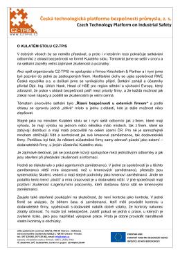 O kulatém stolu v RWE, a. s. - Česká technologická platforma