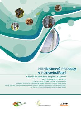 Sbornik_Membranove procesy - Česká technologická platforma