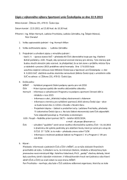 Zápis VV SUČ 22.9.2015