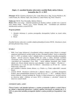 Zápis z 2. zasedání