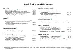 Pivní degustační menu