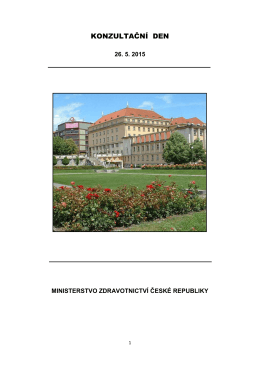 KONZULTAČNÍ DEN - Ministerstvo zdravotnictví