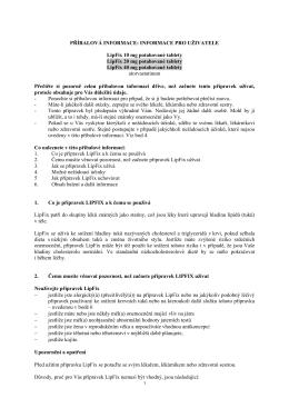 PŘÍBALOVÁ INFORMACE: INFORMACE PRO UŽIVATELE LipFix 10