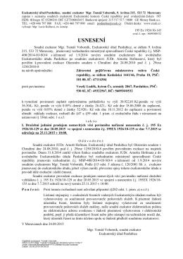 USNESENÍ - Exekutorský úřad Pardubice