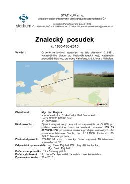 Znalecký posudek - Exekutorský úřad Brno
