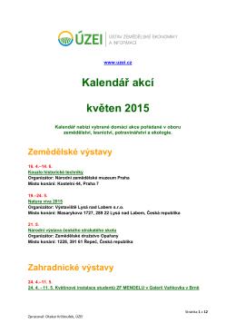 Kalendář akcí květen 2015 - Bio-info