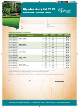 Objednávkový list 2015