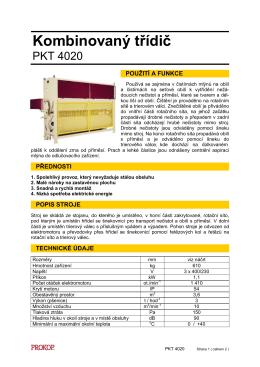 Katalogový list PKT CZ