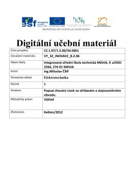 vy_32_inovace_b.2.06 - Integrovaná střední škola technická, Mělník