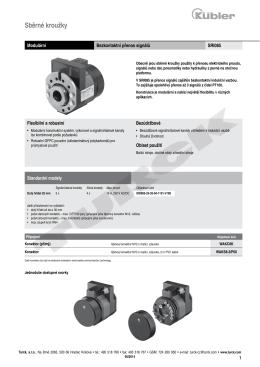 Sběrací kroužky SRI085