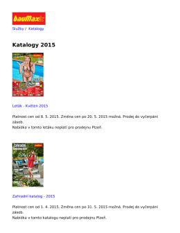 Katalogy 2015