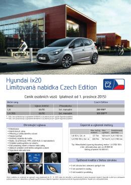 Hyundai ix20 Limitovaná nabídka Czech Edition