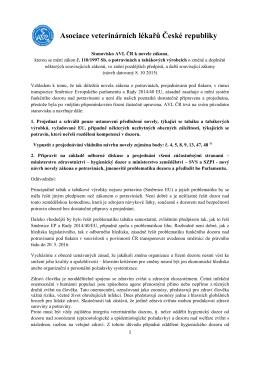 Stanovisko - Asociace veterinárních lékařů ČR