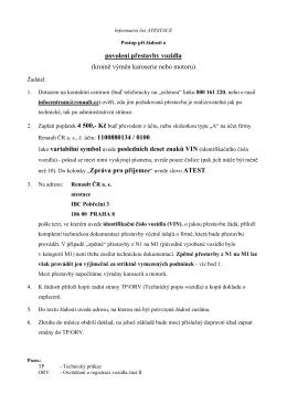 Informační list ATESTACE