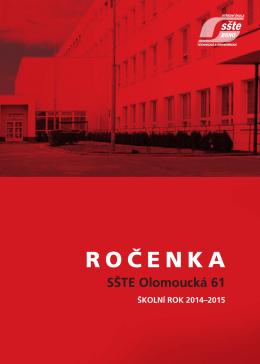 Ročenka 2014/2015 - SŠTE Brno, Olomoucká 61
