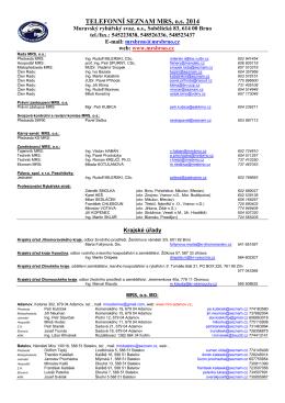 Telefonní seznam 2015 (formát PDF)
