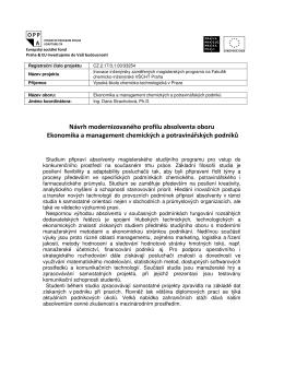 EMAN - Fakulta chemicko-inženýrská VŠCHT v Praze