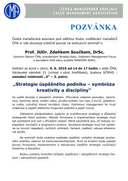 POZVÁNKA - Česká manažerská asociace