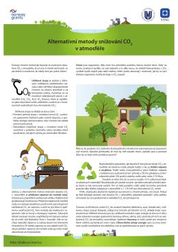 Alternativní metody snižování CO2 v atmosféře