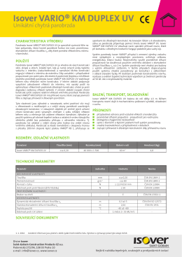 Technický list Vario KM Duplex UV