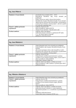 Členové MR SÚ a jejich profesní profil