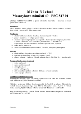 VŘ - účetní