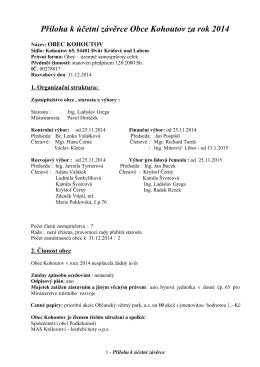 Příloha k účetní závěrce Obce Vrbice za rok 2005