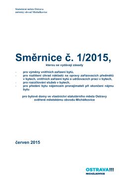 Směrnice č. 1/2015 - Michálkovice