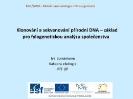 Klonování a sekvenování přírodní DNA