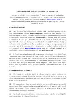Obchodní podmínky - NakupToChytre.cz