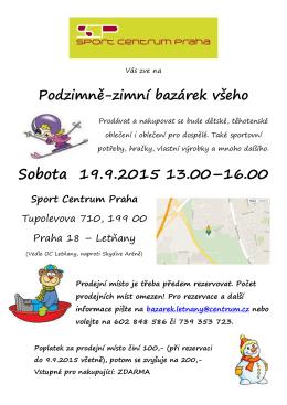 Sobota 19.9.2015 13.00–16.00