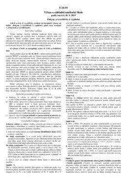 Škol (MŠMT) V 24-01 - Statistika školství