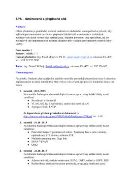 Informace o organizaci předmětu z Průvodce studiem pro